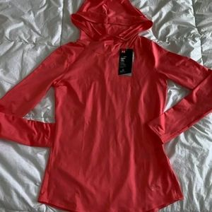 Under Armour coral long sleeve with hoodie thin Si